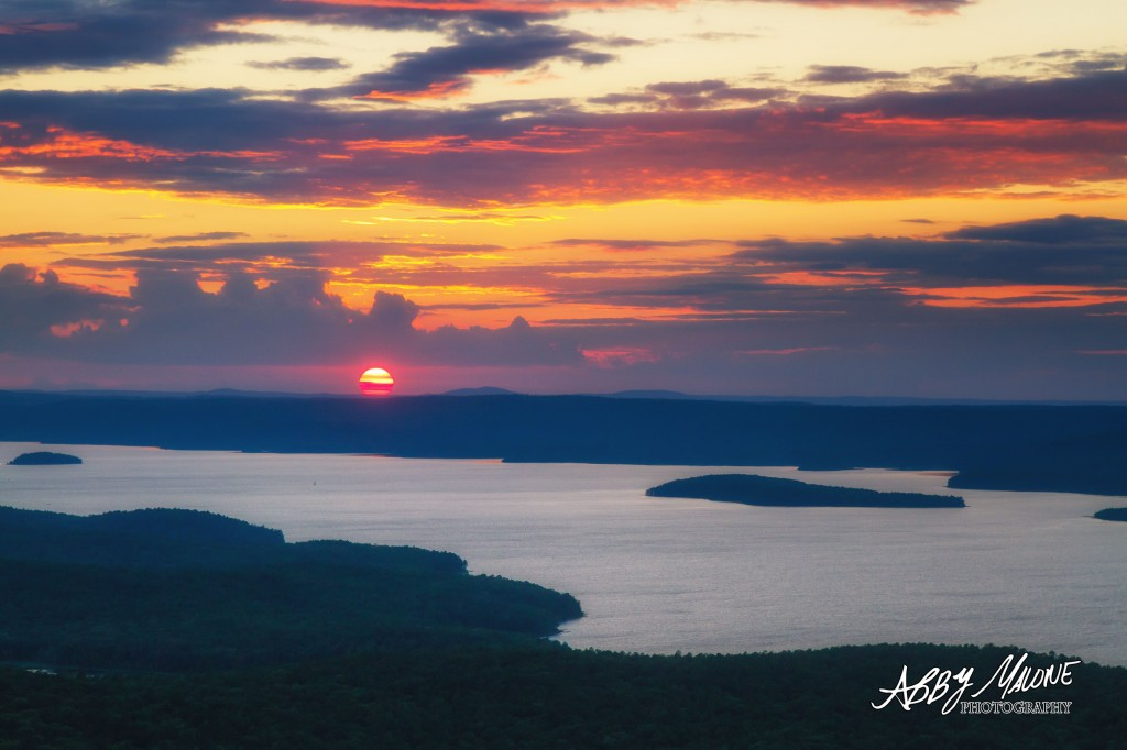 Sunset at Pinnacle Mountain State Park