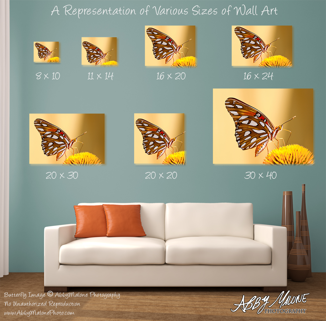 Wall Art Example Sizes