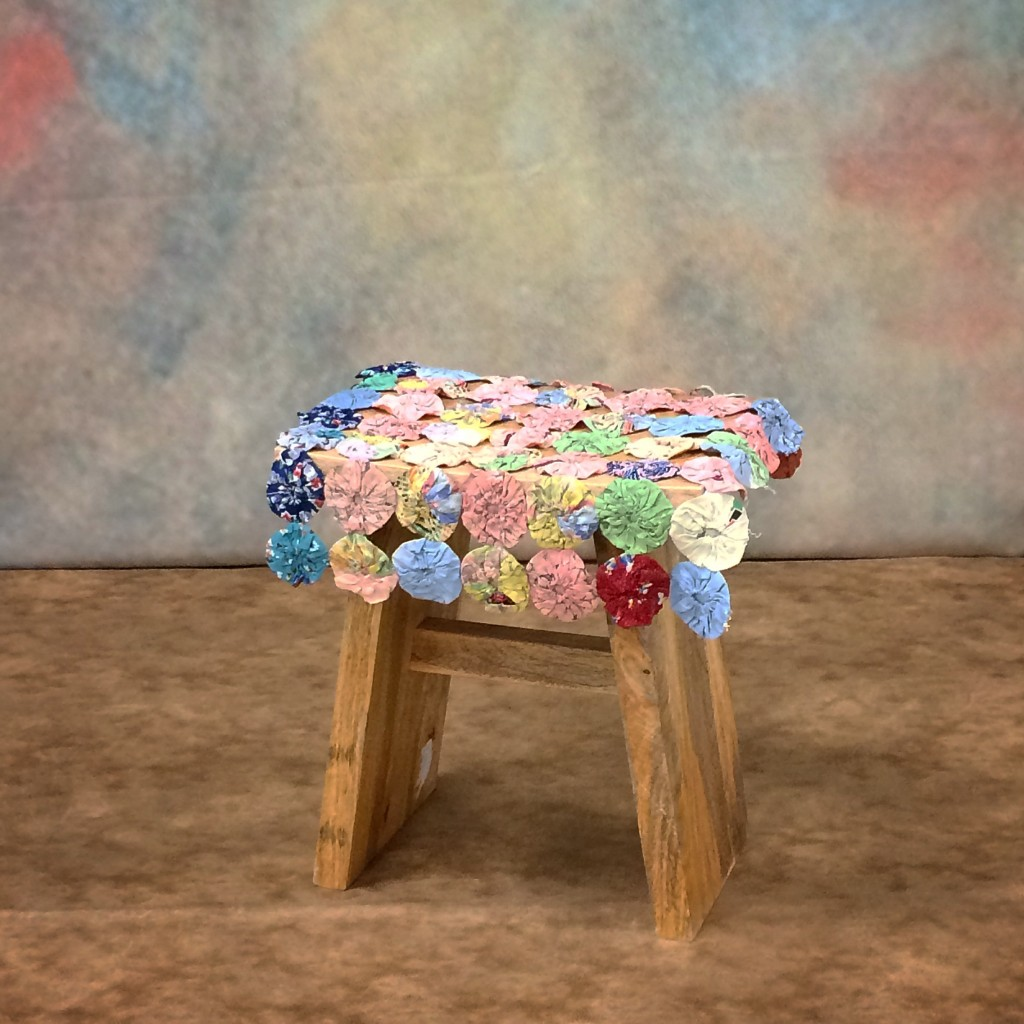 Backdrop/ Floor. Remember*** the wood stump will replace the stool and be surrounded by fresh flowers.
